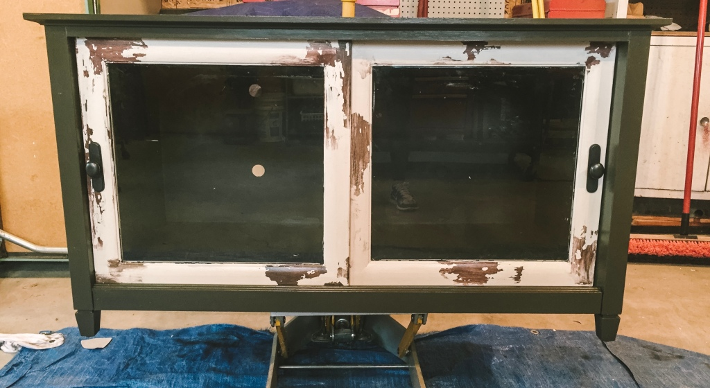 Distressed Entertainment Center